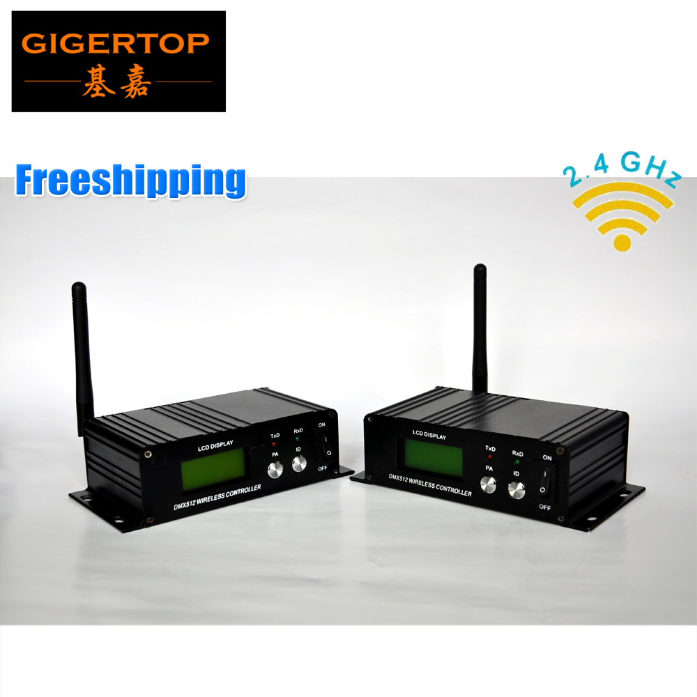 ФОТО Freeshipping 2PCS 2.4G Wireless LCD Transmitter Receiver 126 Channel Jumping Frequency High Anti-jamming Ability 3PIN DMX Socket