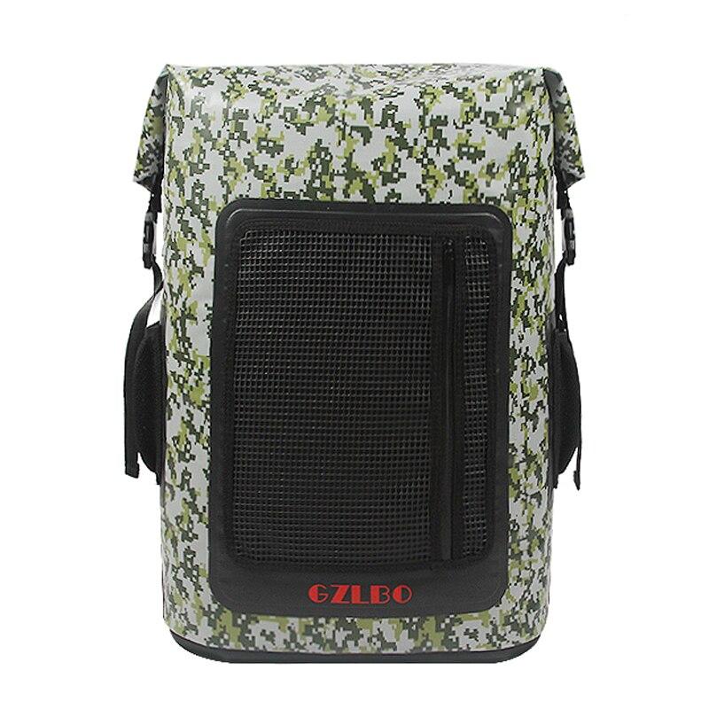 GZLBO 60 Dosen kühltasche große kapazität PVC beliebten camouflage wasserdichte lebensmittel bier kühltasche rucksack mit mesh reißverschluss tasche