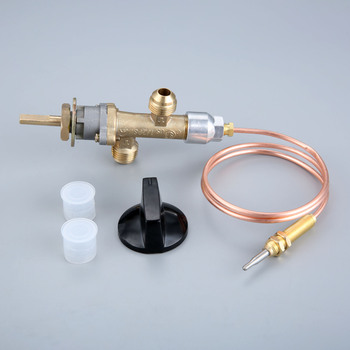 Propane lpg gas fire pit control safety valve flame failure device cock gas heater valve with thermocouple and knob gas bbq grill gas fire pit gas heater solenoid valve 3 8npt brass valve