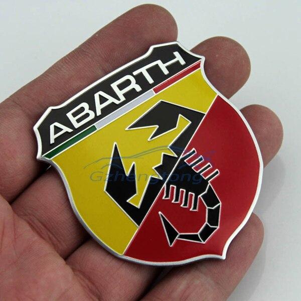 3d Abarth Metal Logo Gobo Symbol Emblem Badge Sticker Decal For