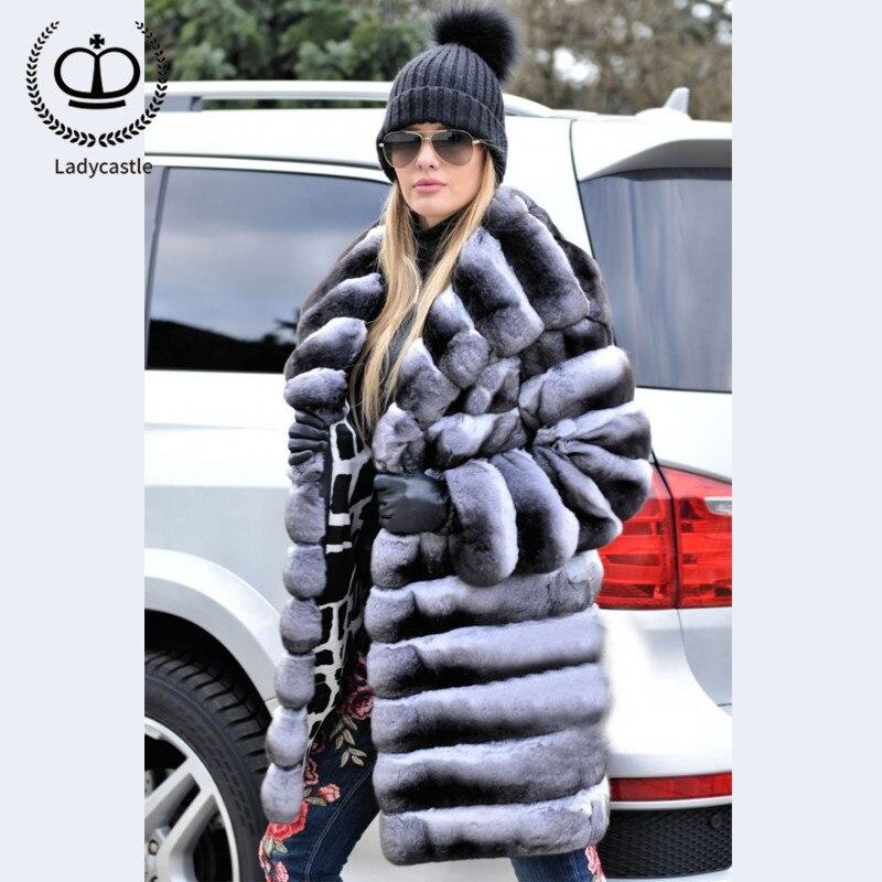 Big Taille Manteau Plus Vestes Réel Le Pleine Longueur Avec Rb Gros Lapin Hood Vers Femmes Rex Bas 2018 058 Long Chinchilla Capuche La normal Nouvelle Hood De Fourrure SHxq10Z