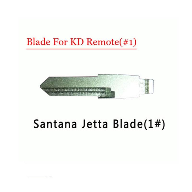 Free shipping (10 pcs/lot)Metal Blank Uncut Flip KD Remote Key Blade Type #1 for Santana Jetta free shipping 1piece 2 button remote key mit11 uncut blade with 46 chip 433mhz for mitsubishi