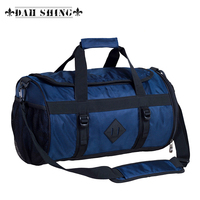 Large capacity drum shaped waterproof nylon fabric men's travel bag shoulder bag duffle bag travel tote zipper closure