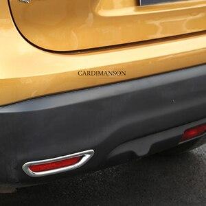 Image 5 - 2 Pz/lotto per Nissan Qashqai J11 2014 + ABS Chrome Posteriore Riflettore Fendinebbia Lampada Copertura Dellautoadesivo Della Decorazione Trim Accessori