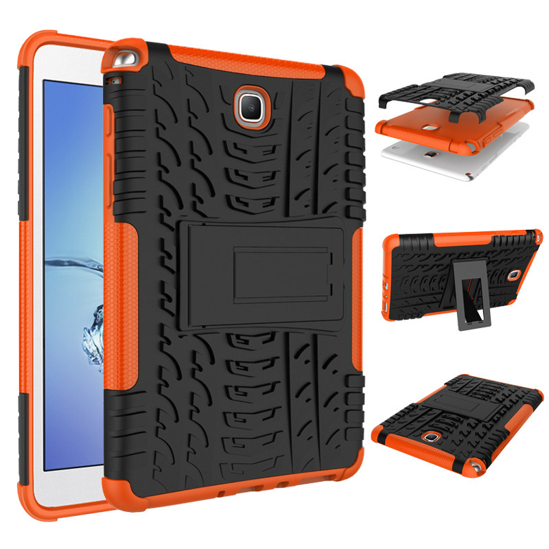 Shockproof Dazzle Impact Hybrid Armor Kickstand Hard TPU+PC Back Case For Samsung Galaxy Tab A 8.0 Inch T350 T351 T355 SM-T355