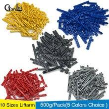 500g/lot Toy Technic Liftarm Part MOC Brick 1*1-1*16 with Hole kids Building Blocks Enlighten ABS 6541 3700 3894 3702 2730 3895 500g lot gmp