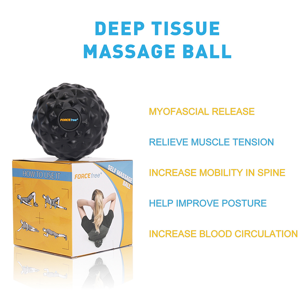 Forcefree+ PU Fitness Ball Therapy Massage Balls Peanut Lacrosse Mobility 5