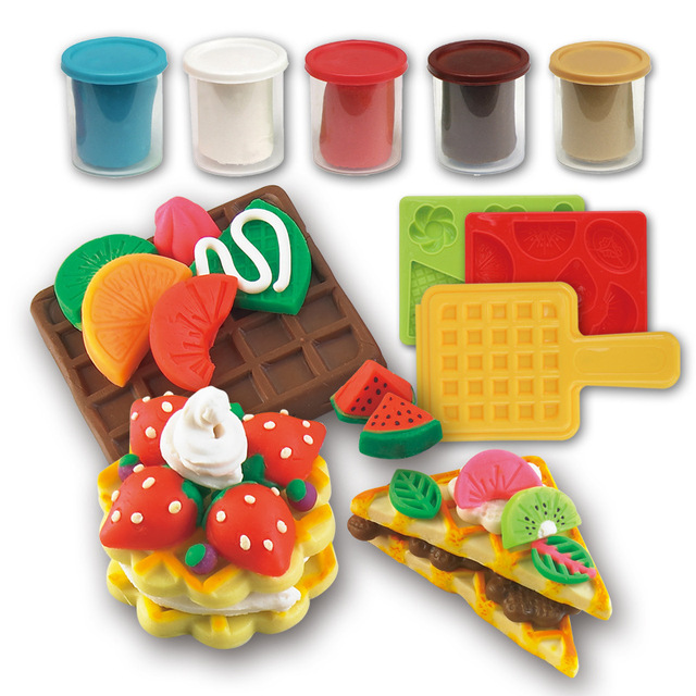 Wafer color Fimo clay mold tool kit toys plasticine mold suit children educational toys children play house toys