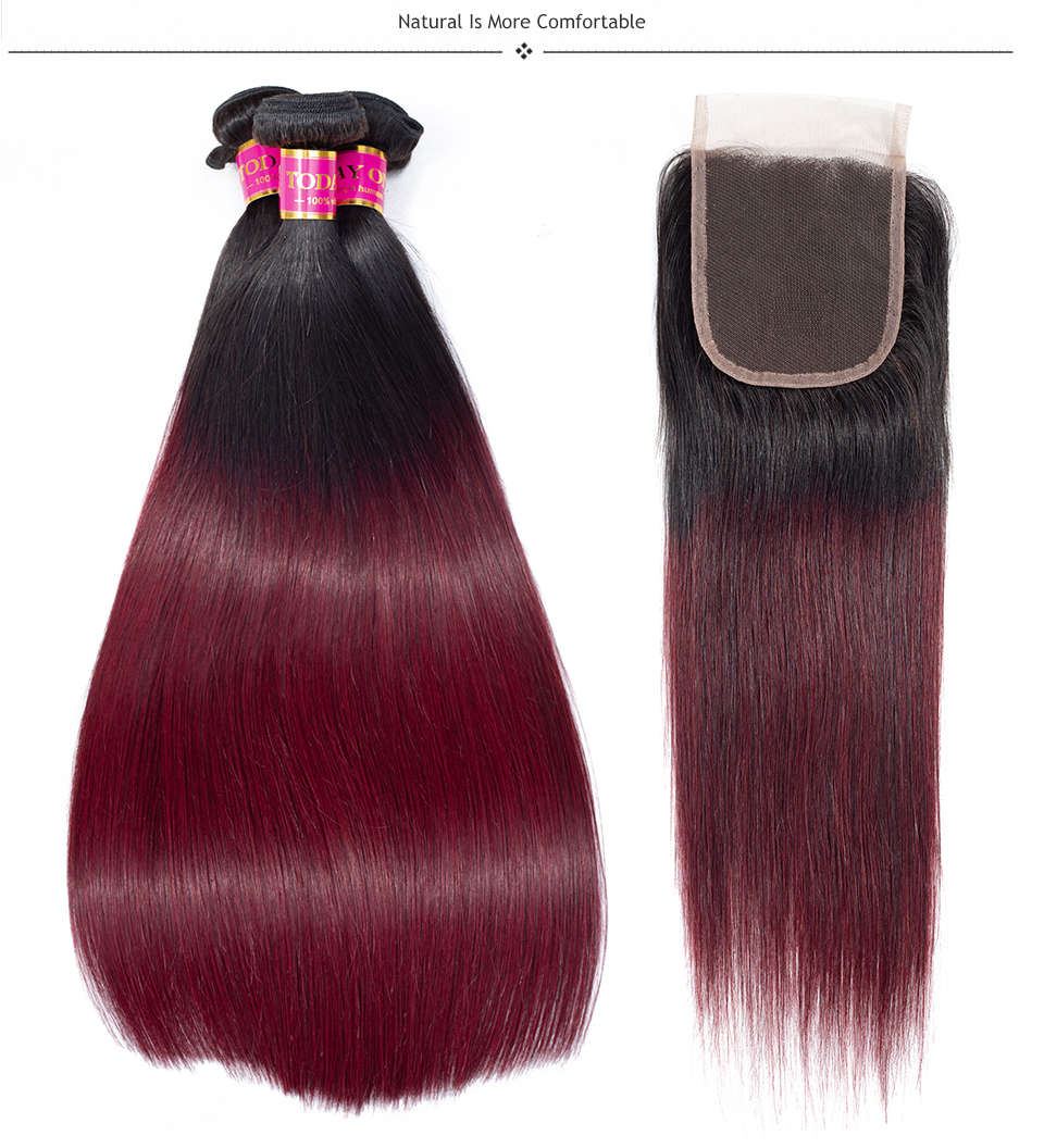brazilian straight hair bundles with closure
