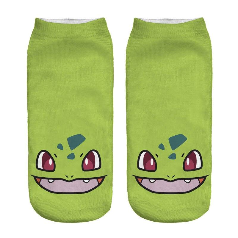 3d bande dessine pokemon chaussettes femmes filles garons de nol chaussettes kawaii harajuku pokemon pikachu low