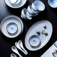 Fashion Tableware Ceramics 6 Person Suit Originality Cutlery Cookware High grade 22 Pieces/set Child Gifts Tableware Dinnerwear