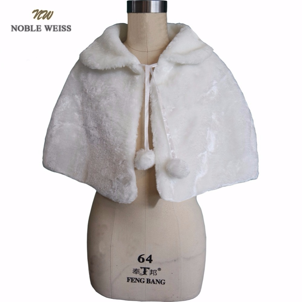 NOBLE WEISS Flower Girls Wedding Jackets Faux Fur Wraps Fall Winter Style Kids Formal Event Wraps / Shrugs / Capes / Shawls Fit Bust 50-75cm