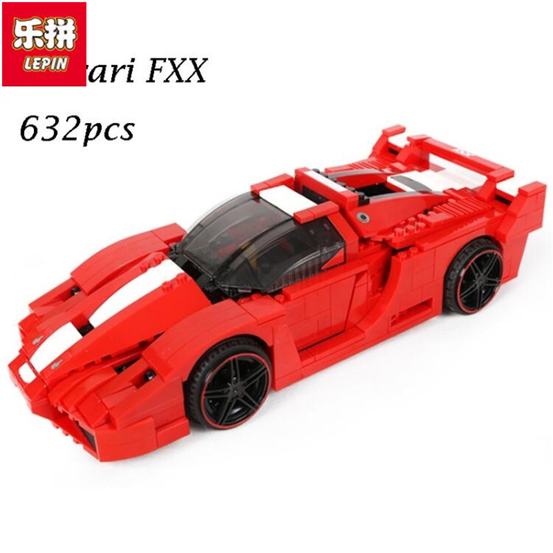 lepin 21009 FXX 1:17 Toy Building Blocks Technic Racing Sports Car Supercar Model Boy Gift Toy For Children Compatible Legoingly hot racing italy horse logo fxx k