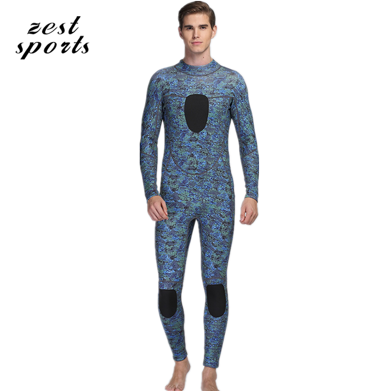 men 3mm neoprene diving suit/wetsuit, keep warm swimsuit,long-sleeved, Seabed blue camouflage, hiding in seawater  MY006 men s winter warm swimwear rashguard male camouflage one piece swimsuit 3mm neoprene wetsuit man snorkeling diving suit