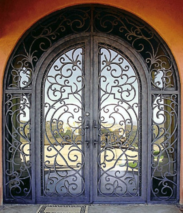 Wrought Iron Gates Door Lm D048 Steel Security Sliding Glass Doors Finished With Free In From Home Improvement On Aliexpress Com