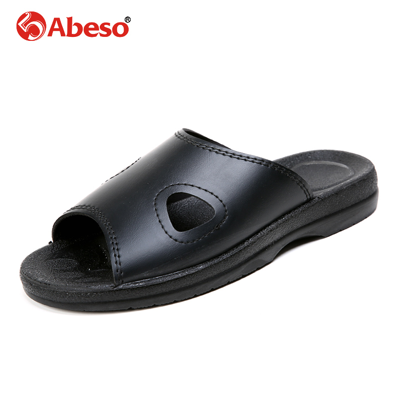 Abeso Safty Shoes Men Anti-static Slip-on Breathable Durable PU Slipper Women For Super Light Flats Foot Summer A8615 super slipper taipei