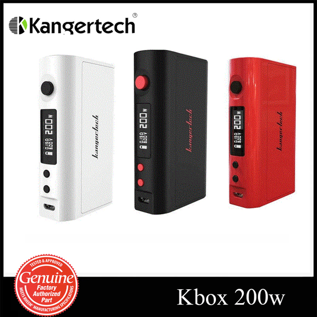 Original Kanger Electronic Cigarette KBOX 200W Mod Temperature Control Variable Wattage Box Mod suit for 18650 Battery KBOX 200W