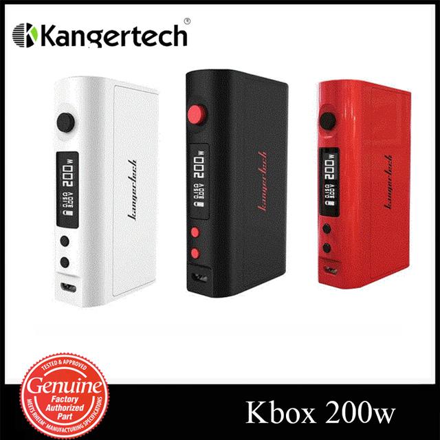 Original Kanger KBOX 200 W Mod Cigarro Eletrônico Controle de Temperatura Variável Potência Box Mod KBOX terno para 18650 Bateria 200 W