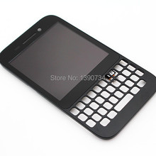100% Tested Black For Blackberry Q5 LCD Display + Touch Screen Digitizer Assembly+Bezel Frame, Free shipping+Tracking No.