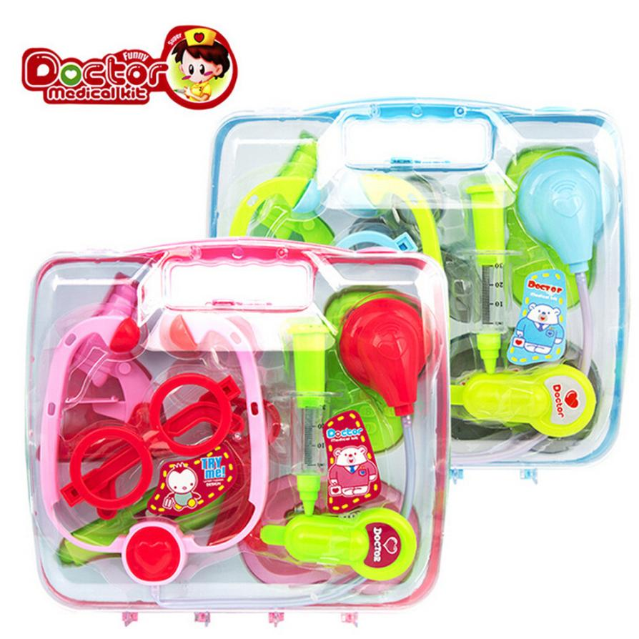 Kids Baby Doctor Medical Play Carry Set Case Education Role Play Toy Kit Gift Dropship Y1215