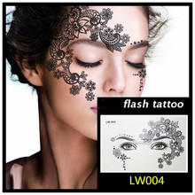 Free shipping Masquerade golden flash tattoo paste face temporary flash tattoos jewelry Arab India's large temporary tattoos