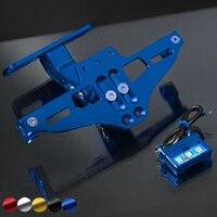 Motorcycle license plate bracket folding Led light accessory For KTM exc duke 390 1290 super adventure 125 200 motor ktm xcw 450