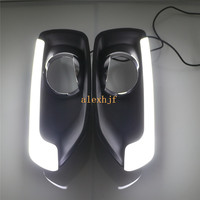 July King LED Light Guide Daytime Running Lights Case for Suzuki SX4 2014~ON, LED DRL With Fog Lamp Cover, 1:1 Replacement