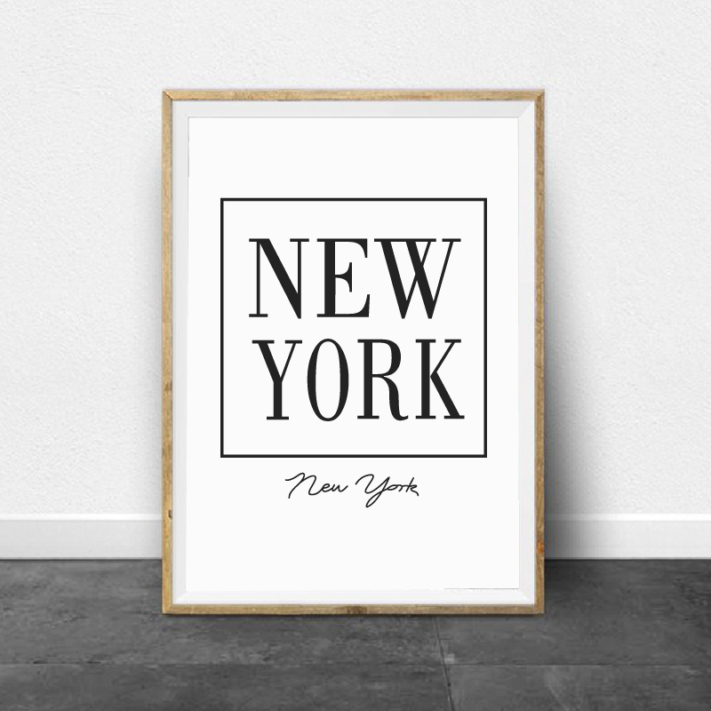 New York Canvas Painting Home Wall Art Decor