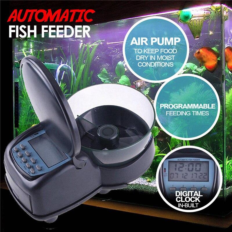 Automatic Fish Feeder Alarm Food Dispenser Digital Clock Fish Programmable Feeding Aquarium Tank Timer