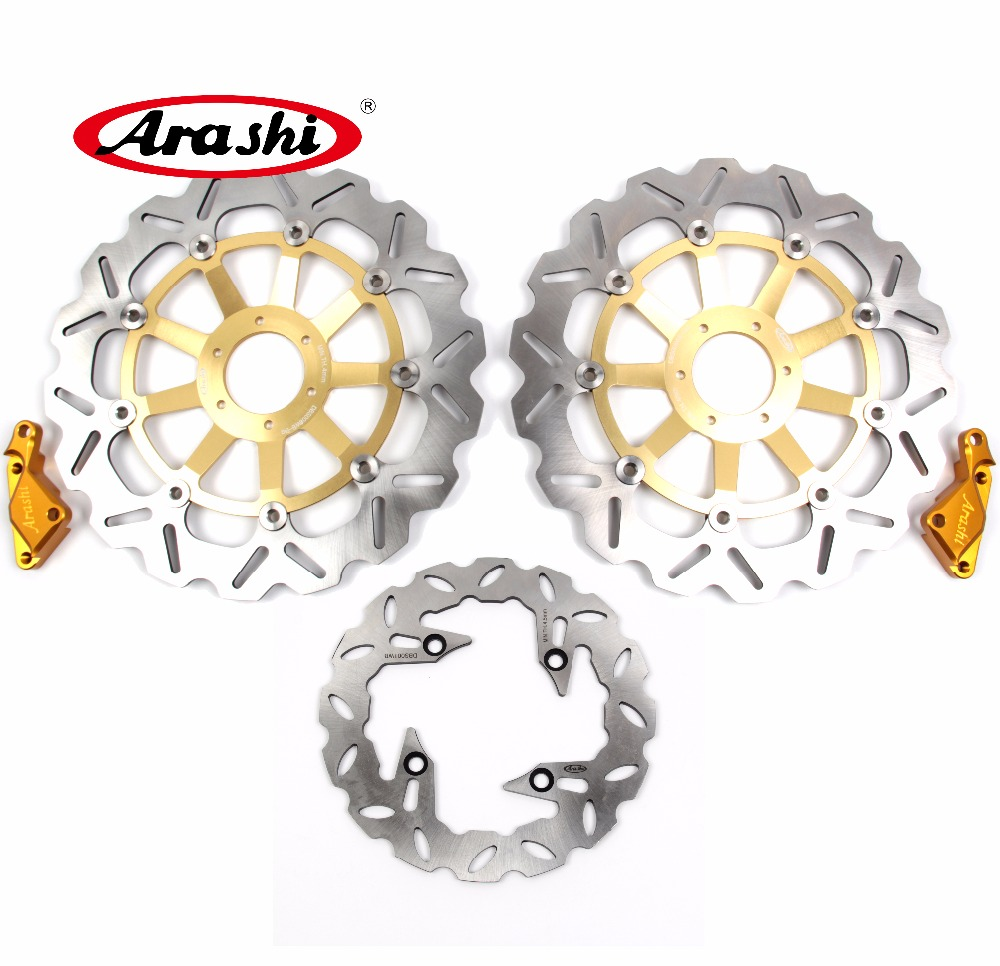 Arashi 1 Set For HONDA CB 400 VTEC 1999 2000 2001 2002 2003 2004-2015 CB400 Floating Front Brake disk & Rear Brake Disc Rotor arashi cnc rear brake disc brake rotors for honda cb250 cb400 cb500 cb500s 1991 2000 2001 2002 2003 2004 2005 2006