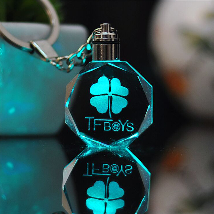 Toy Cartoon-Light Anime Key-Toys Crystal-Figure-Ornaments Action-Figures Gifts Boy Chain