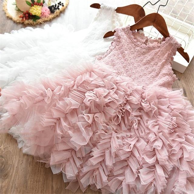 Mới Ren Bé Cô Gái Ăn Mặc 1 2 3 4 5 Năm Bé Cô Gái Sinh Nhật Dresses Vestido Bebes Tiệc Sinh Nhật Công Chúa ăn mặc cho Trẻ Sơ Sinh