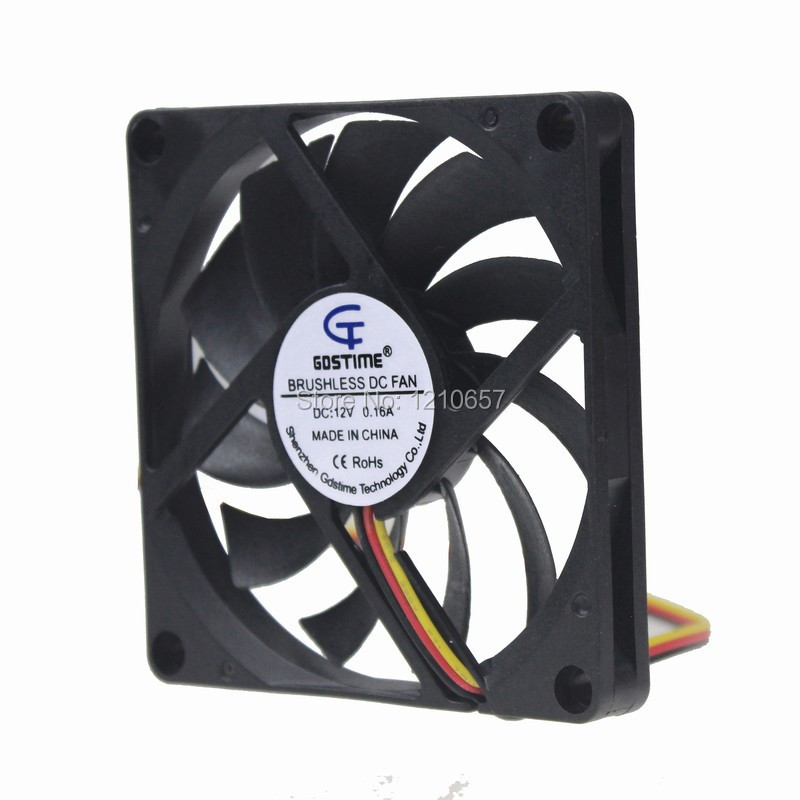 1PCS Gdstime 80mm 80x80x10mm 8010S 8cm DC 12V 3Pin PC Computer CPU Cooling Cooler Fan gdstime 10 pcs dc 12v 14025 pc case cooling fan 140mm x 25mm 14cm 2 wire 2pin connector computer 140x140x25mm