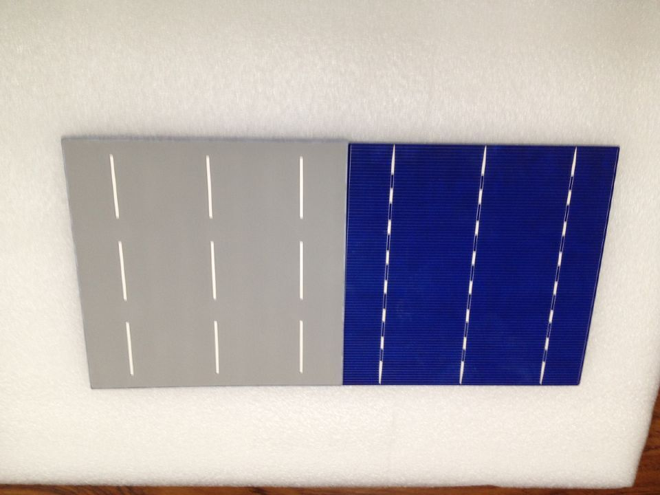 10 Pcs 4.28W 0.5V A Grade 156 * 156MM PV Poly Polycrystalline Silicon Solar Cell 6x6 For DIY Solar Panel