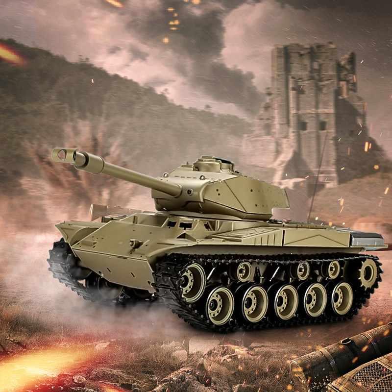 Heng Long 3839-1 2,4G 1/16 нам M41A3 Уолкер бульдог легкий танк боевой танк на радиоуправлении открытый игрушки для детей подарки большой резервуар для мальчиков