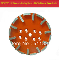 10'' Blastrac Red Diamond Grinding Disc for EDCO Blastrac floor grinder | 250mm coarse grade plate for hard floor | 20 segments