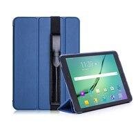 Tab S3 9.7 тонкая магнитная Складные PU чехол защитный чехол Стенд с S Pen Стилусы держатель для Samsung Galaxy Tab s3 9.7 T820 t825