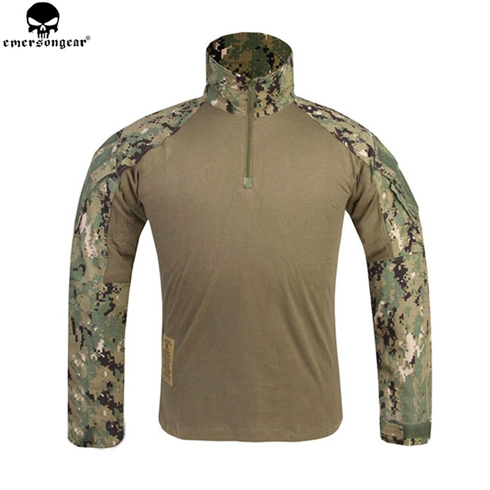 EMERSONGEAR G3 Combat Shirt Airsoft Paintball Hunting Shirt Army BDU Military Tactical T shirt AOR2 EM8596