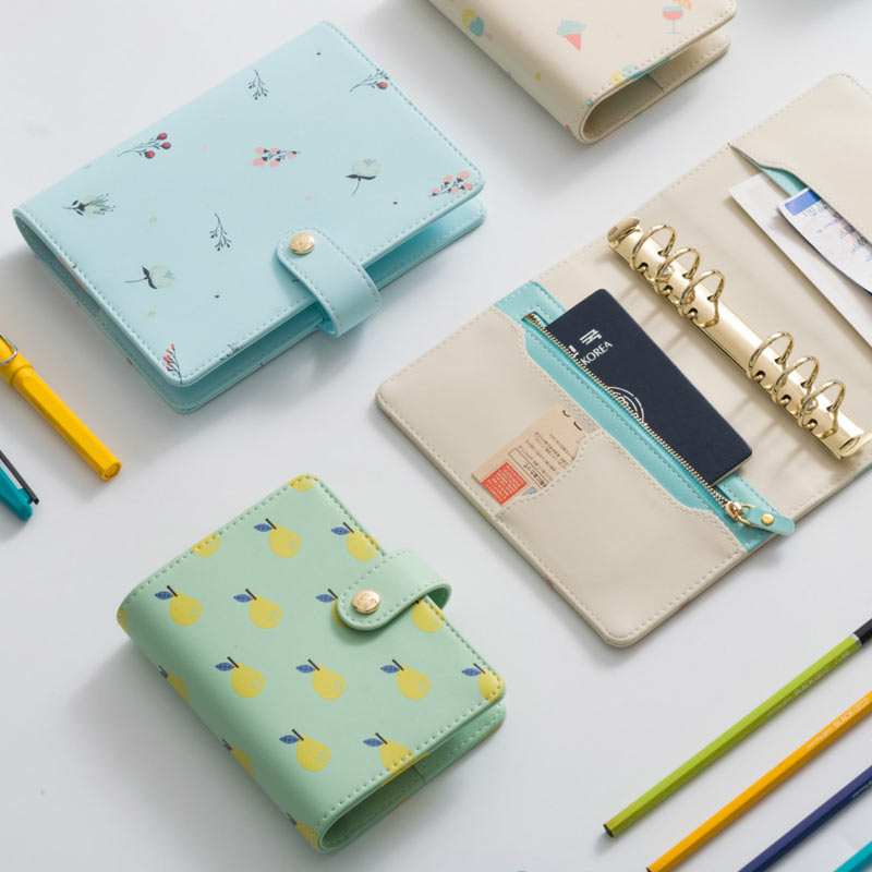 2017 New Macaron Creative ice cream & pear & Dande loose Leaf Planner A6 A7 Cute Snap Notebook match dokibook filler pages
