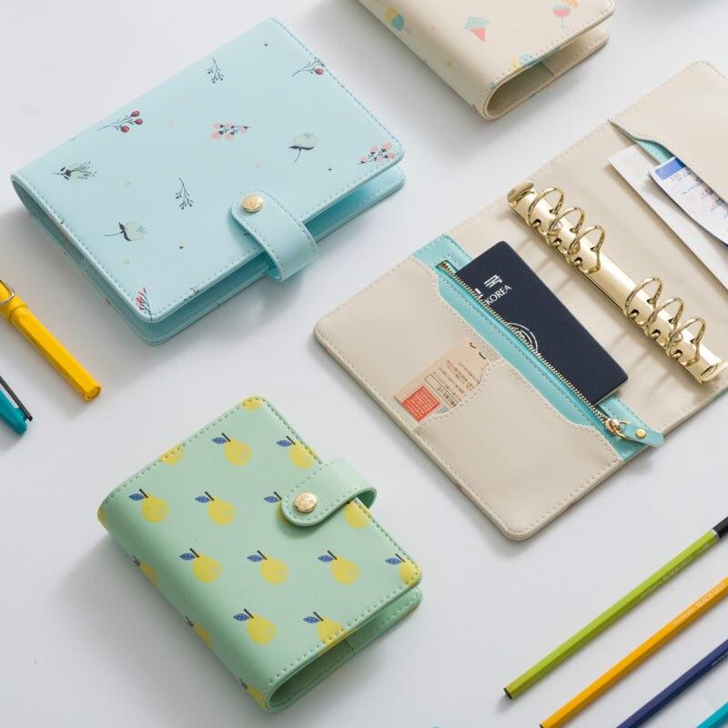 New Macaron Creative պաղպաղակ և տանձ և Dande չամրացված տերև պլանավորող A6 A7 Cute Snap Notebook համընկնում dokibook filler- ի էջերի հետ