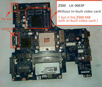Tested NEW LA 9063P Z500 motherboard For LENOVO Z500 Laptop mainboard