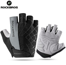 ROCKBROS Cycling Bike Half Short Finger Gloves Shockproof Breathable MTB Road Bicycle Gloves Men Women Sports Cycling Equipment rockbros cycling bike half finger gloves shockproof breathable mtb mountain bicycle gloves men women sports cycling clothings