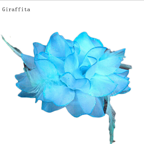 Flower Diameter:about 14cm Fashion 10 Colors Dance Performance Silk Flower Headdress Bridal Head Flower Wrist Flower