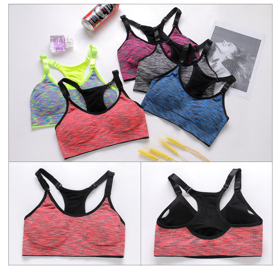 Gradient Woman Sports Bra Active Wear Tops Women Gym Sport Bra Crop Top 2018 Female Yoga Fitness Bra