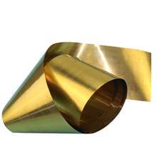 1 pc 0.3/0.4/0.5 ミリメートル厚さ真鍮シート 1 メートルの長さ金属薄膜箔プレートシム業界ホームのための材料金属加工溶接