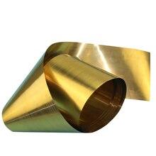 1 pc 0.3/0.4/0.5mm 두께 황동 시트 1 m 길이 금속 얇은 호일 플레이트 심 산업 홈 재료 금속 가공 용접
