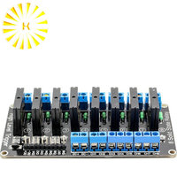 8 Channel 5V DC Relay Module Solid State Low Level G3MB-202P Relay SSR AVR DSP for arduino Diy Kit Connector