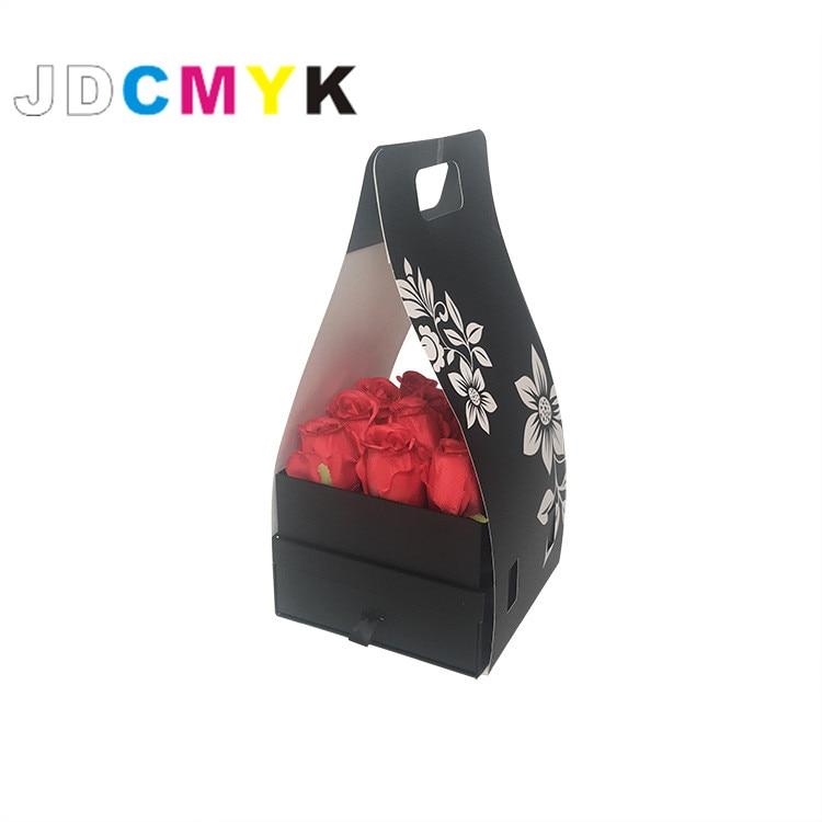 flosrist packingFlowers gift box Tetragonal drawer paper bags handle ...