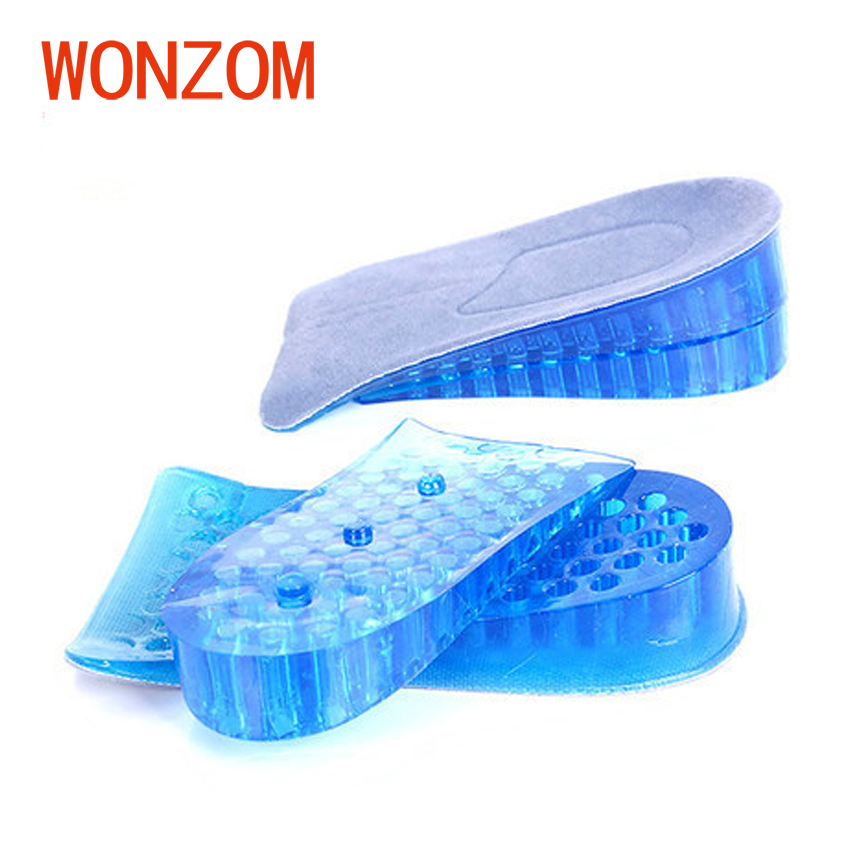 WONZOM 1 Pair Unisex Silicone Height Increase Insoles Inserts Adjustable Shoe Pad Foot Care For Men Women 2018 New Arrivals