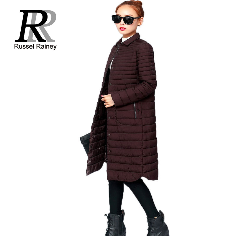 RR Winter Long Coats Women New Solid Warm Slim Casual Jackets 2016 Female Down Cotton Wadded Parka Coat Lady Thin Winter Jackets